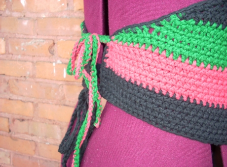 Crocheted RBG Halter Top