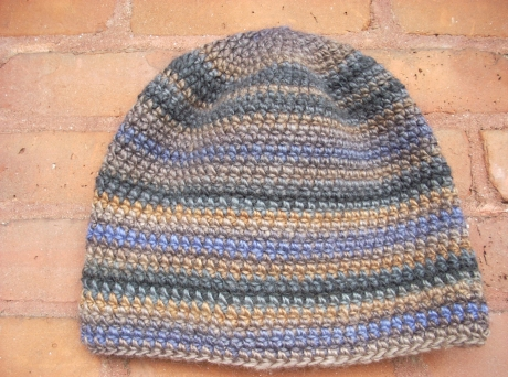Crocheted Simple Soy/Wool Beenie