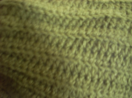 Crocheted Olive Green Beenie