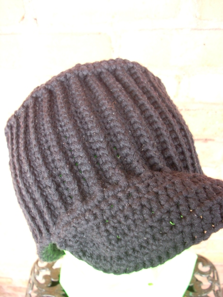 Crocheted Black M*A*S*H Cap