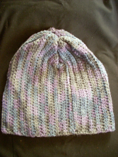 Crocheted Denim Lavender Beenie