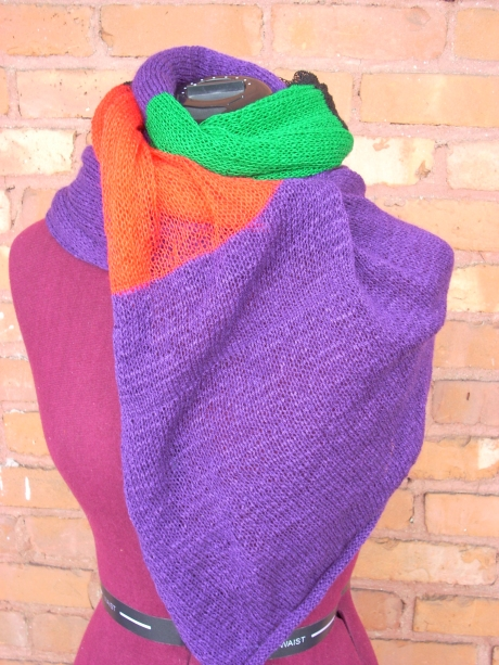 Knitted Purple RBG Scarf/Wrap
