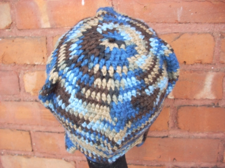 Crocheted Water Earth Wool Aviator