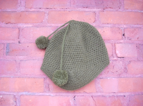 Crocheted Army Green Aviator