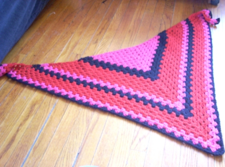 Your Granny is a Hipster Scarf, in Pink/Black/Red