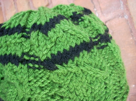 Questionable Green Knit Beret
