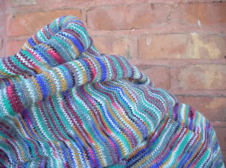 Grey With a Spectrum of Light Scarf