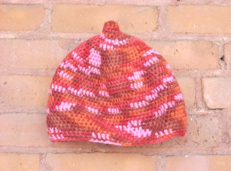 Crocheted Little Pink Flame Cap
