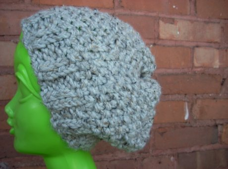 Knitted Chunky Seed Stitch Ash Hat