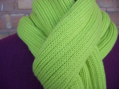 Knitted Yellow Green Scarf