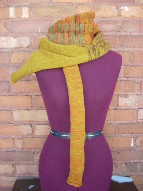 Knitted Golden Thankful Scarf