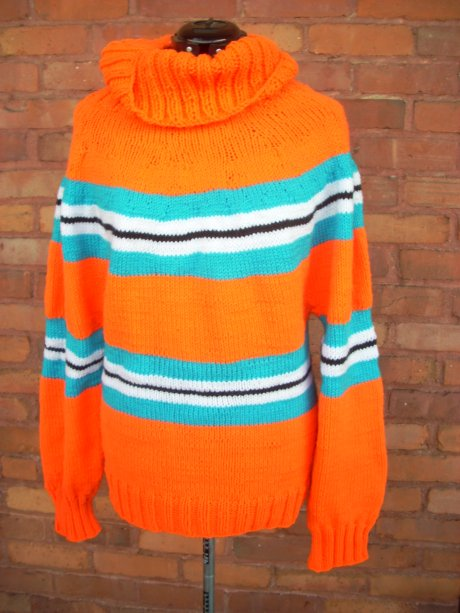 Construction Orange Turtleneck Sweater