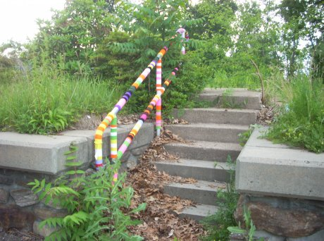 YarnBomb in Pine Point Springfield, Ma.