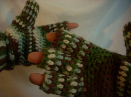 crochet wool gloves
