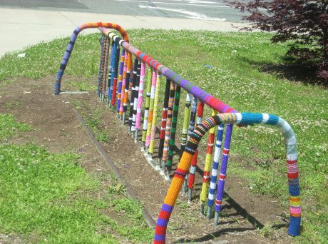 International  Yarn Bombing Day Massachusetts littlefishink