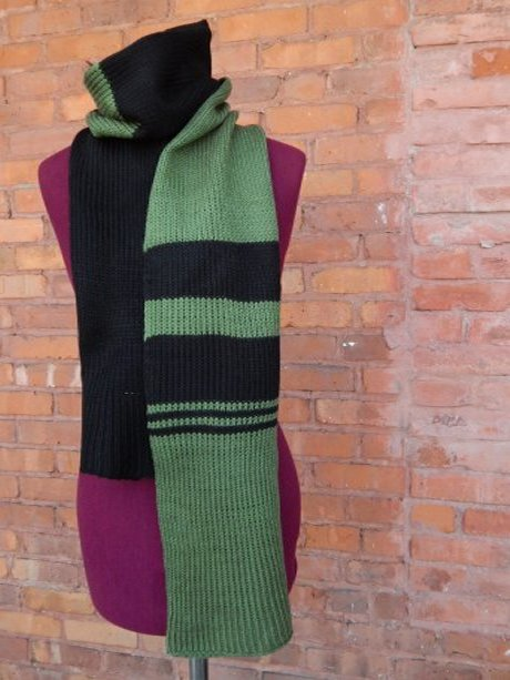 Army Green and Black Scarf