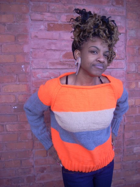 Construction Orange Concretes and Sweater