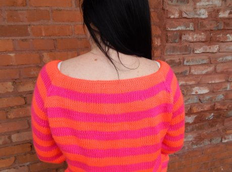 Boatneck Striped Sweater